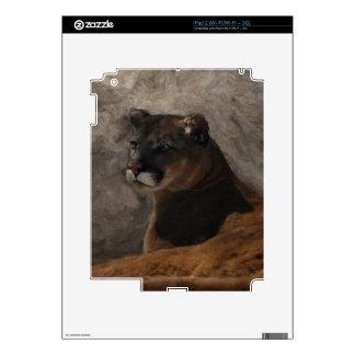 Cougar Mountain Lion Big Cat Art Design iPad 2 Decal