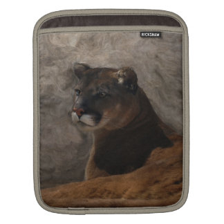 Cougar Mountain Lion Big Cat Art Design iPad Sleeve