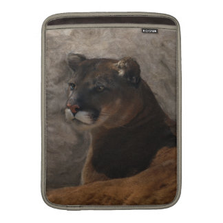 Cougar Mountain Lion Big Cat Art Design Sleeve For MacBook Air
