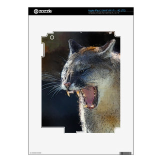 Cougar Mountain Lion Big Cat Art Device Skin Decals For iPad 3