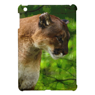Cougar Mountain Lion Big Cat Art iPad Mini Covers