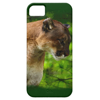 Cougar Mountain Lion Big Cat Art iPhone SE/5/5s Case