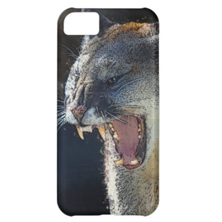 Cougar Mountain Lion Big Cat Art Phone Case