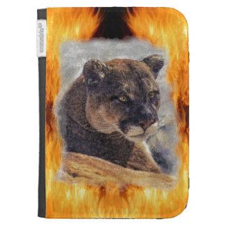 Cougar Mountain Lion Big Cat Painting 2 Kindle Case