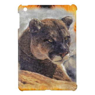 Cougar Mountain Lion Big Cat Painting 2 iPad Mini Covers