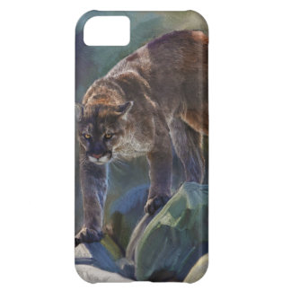 Cougar Mountain Lion Big Cat Painting 5 Cover For iPhone 5C