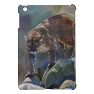 Cougar Mountain Lion Big Cat Painting 5 iPad Mini Case