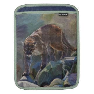 Cougar Mountain Lion Big Cat Painting 5 iPad Sleeve