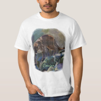 Cougar Mountain Lion Big Cat Painting 5 Shirt