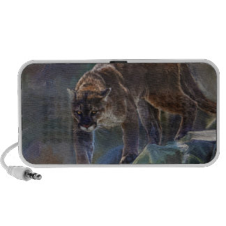 Cougar Mountain Lion Big Cat Painting 5 Speaker System