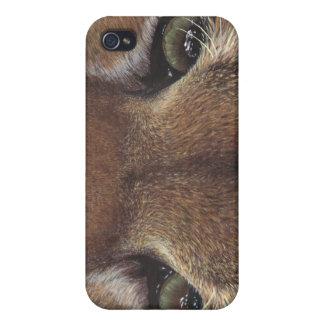 Cougar Mountain Lion Eye wildlife cat painting art iPhone 4 Case