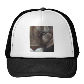 Cougar Mountain Lion Face Trucker Hat
