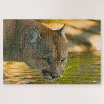 Cougar Mountain Lion. Jigsaw Puzzle