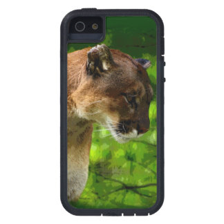 Cougar Mountain Lion & Pine Branches Wildlife Art iPhone SE/5/5s Case