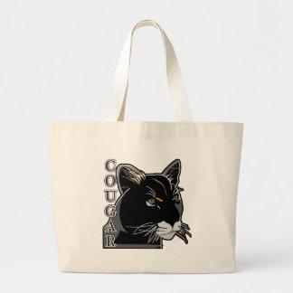 Cougar,Mountain Lion,Puma Large Tote Bag