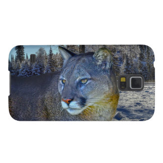 Cougar Mountain Lion & Winter Tree Galaxy S5 Case