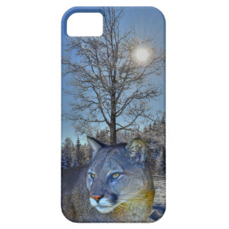 Cougar Mountain Lion & Winter Tree iPhone SE/5/5s Case