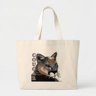 Cougar,Mountain Lions,Puma Large Tote Bag