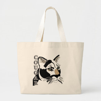 Cougar,Moutain Lion,Puma Large Tote Bag