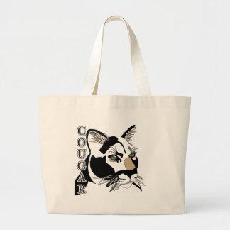 Cougar,Moutain Lion,Puma Large Tote Bag