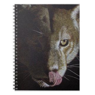 Cougar Night Spiral Notebooks