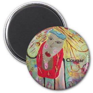 Cougar On A Magnet