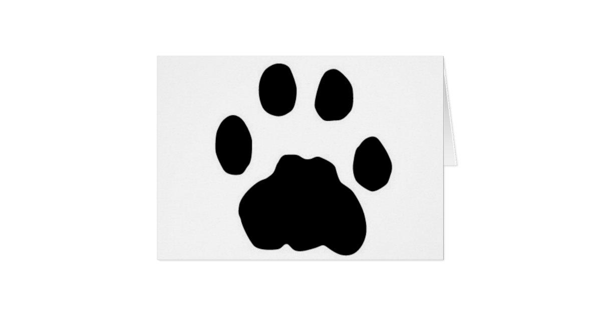 cougar paw print card