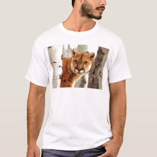 Cougar Photo Painting T-Shirt