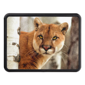 Cougar Photo Painting Tow Hitch Cover