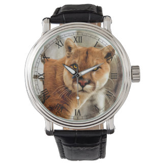 Cougar Photo Painting Wrist Watch