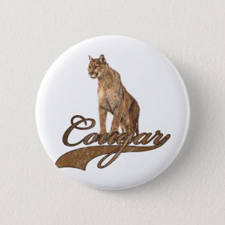 Cougar Pinback Button
