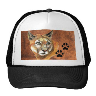 Cougar, Puma, Mountain Lion,Tracks Baseball Cap Trucker Hat
