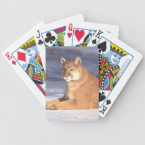 Cougar Resting Bicycle Playing Cards