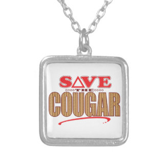 Cougar Save Silver Plated Necklace