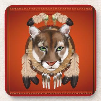 Cougar Shield Coasters Cork Coasters