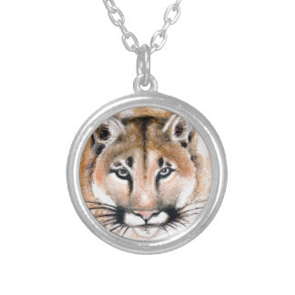 cougar silver plated necklace