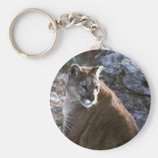 Cougar sitting keychain