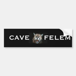 Cougar Snarl, CAVE FELEM Bumper Sticker