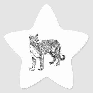 Cougar Star Sticker
