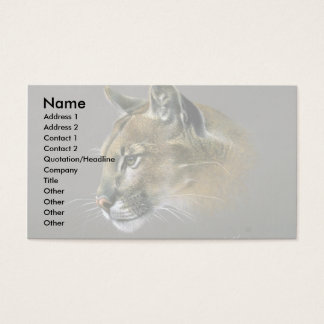 Cougar study business card