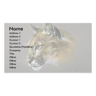 Cougar study business cards