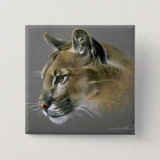 Cougar study pinback button