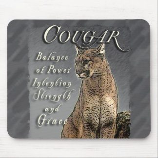 COUGAR TOTEM BALANCE OF POWER STRENGTH INTENTION MOUSE PAD