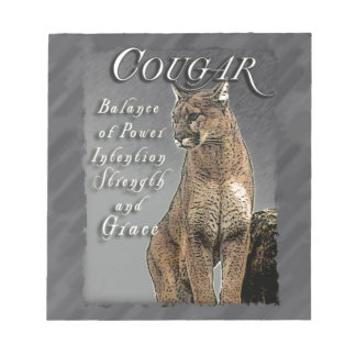 COUGAR TOTEM BALANCE OF POWER STRENGTH INTENTION NOTEPAD