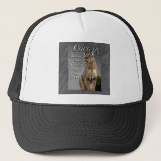 COUGAR TOTEM BALANCE OF POWER STRENGTH INTENTION TRUCKER HAT