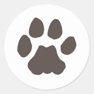 Cougar Track Round Sticker