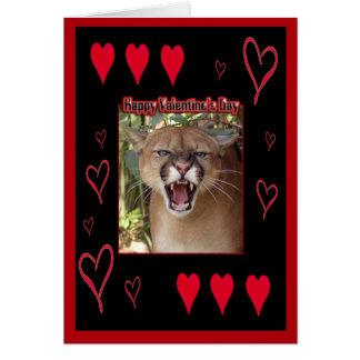 Cougar Valentine Card