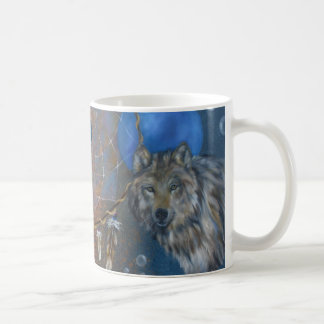 Cougar wolf dreamcatcher cup classic white coffee mug