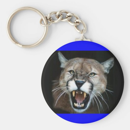 CougarPhotoSnarl Key Chains