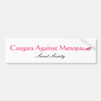 Cougars Against Menopause Bumper Sticker